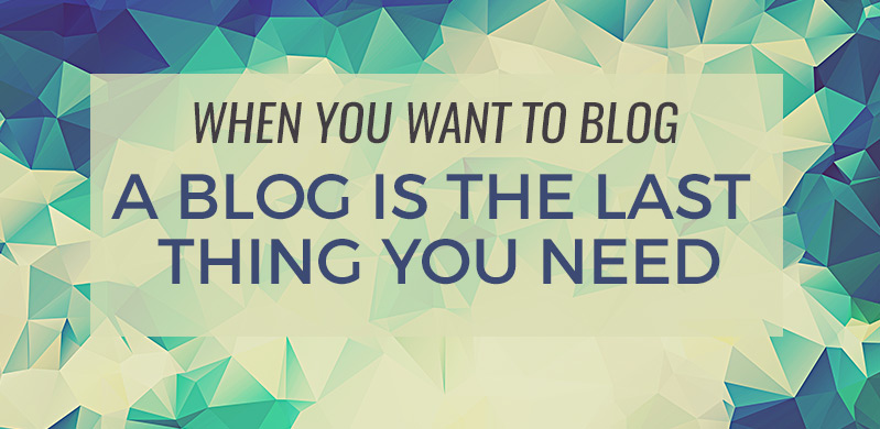 If you want to start a blog