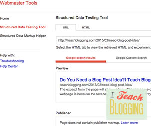 Tutorial on how to use Google Webmaster Tool: Rich Snippet Preview