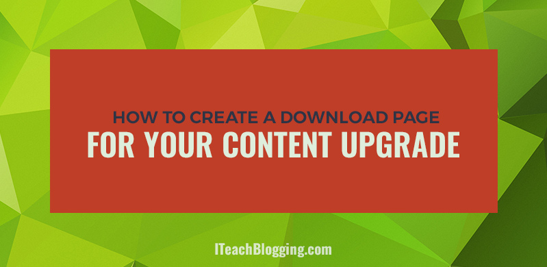Lead magnet download page with Thrive Content Builder