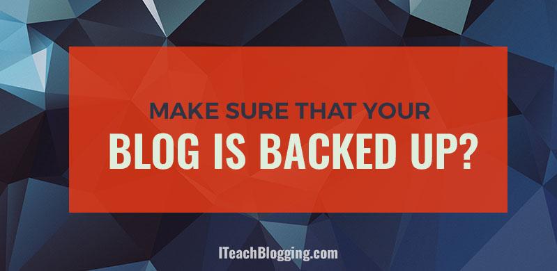Back Up Your WordPress Blog
