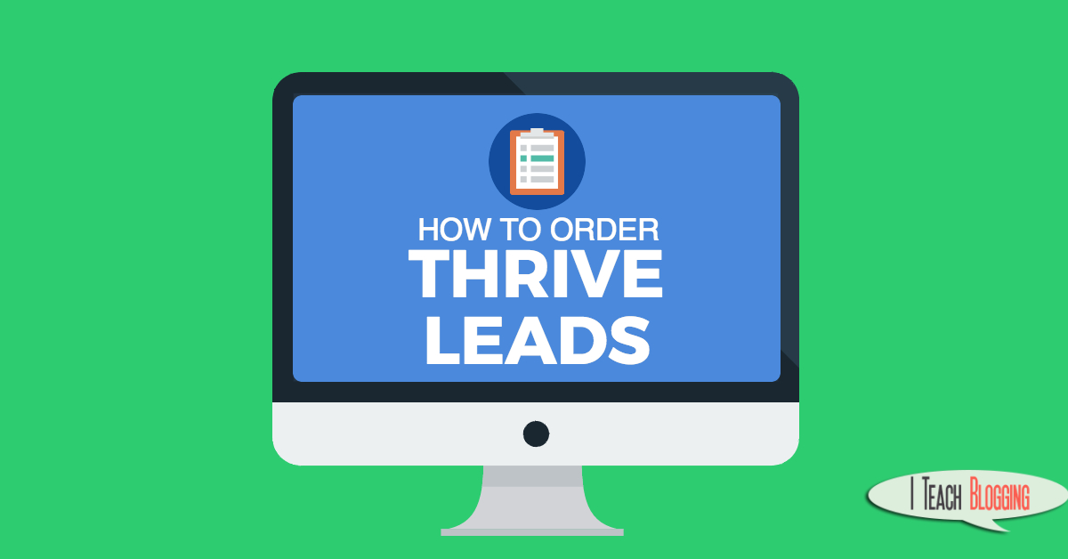 Thrive leads optin order