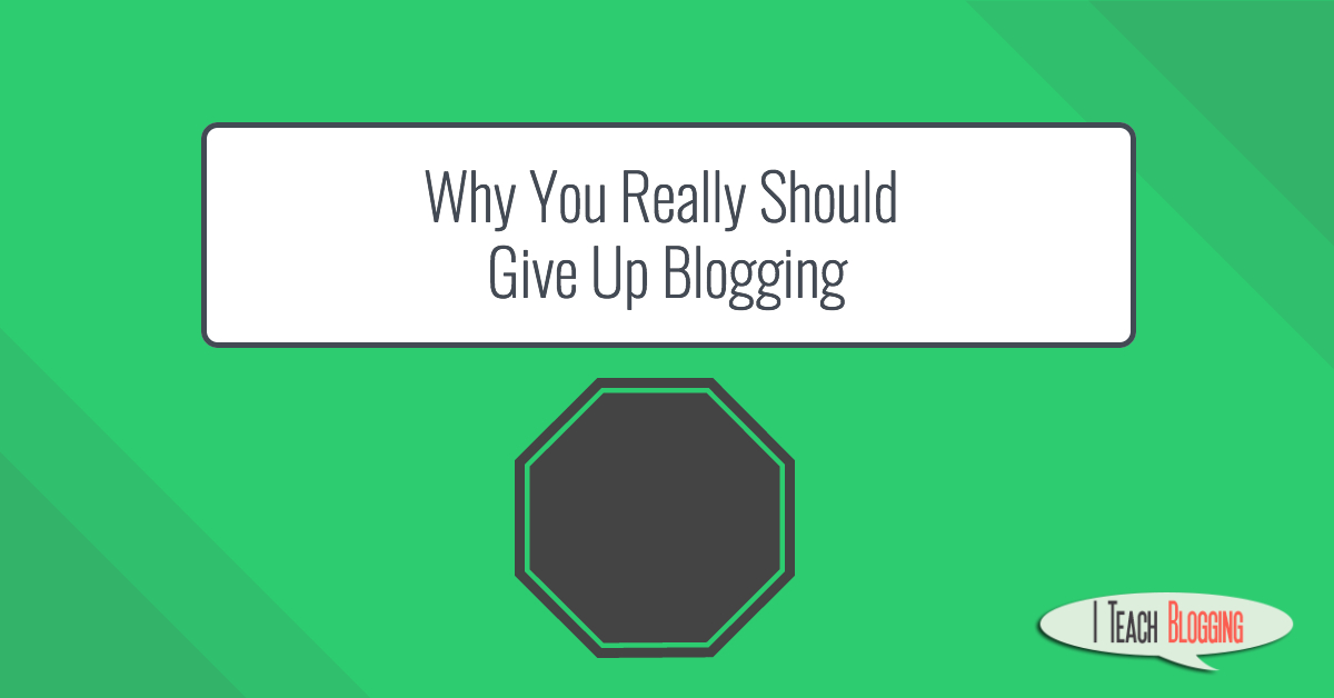Why negative thinking will keep you from blogging