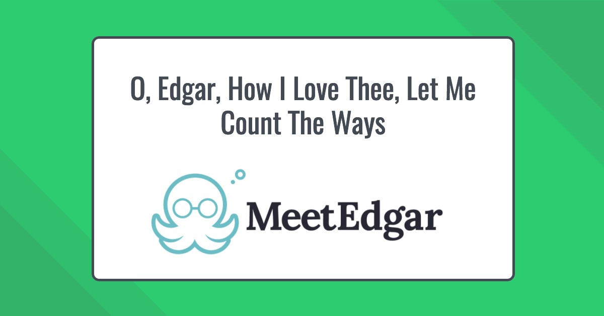 MeetEdgar is a browser-based social media scheduling tool.